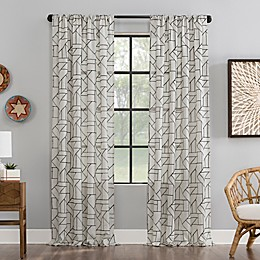 Archaeo Jigsaw Embroidered Window Curtain Panel