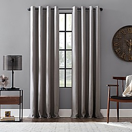 Archaeo Linen Blend 63-Inch Grommet Blackout Window Curtain Panel