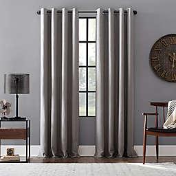 Archaeo Linen Blend 63-Inch Grommet Blackout Window Curtain Panel