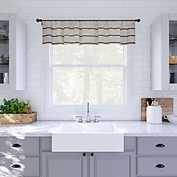Clean Window® Twill Stripe Anti-Dust Valance in Mocha