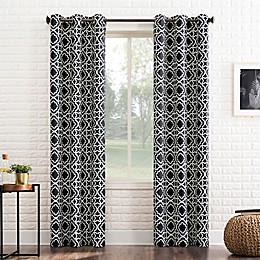 Sun Zero®Barnett Trellis Grommet Room Darkening Window Curtain Panel