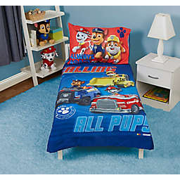 PAW Patrol Calling All Pups 4-Piece Toddler Bedding Set in Blue