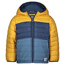 OshKosh B'gosh® Color Block Puffer Coat in Yellow/Blue
