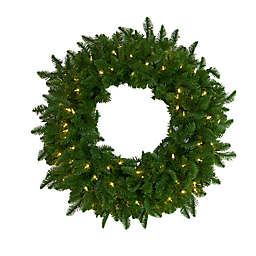 Natural Classic 30-Inch Pre-Lit Christmas Wreath