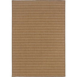 Cabana Bay Kaydee Rhapsody Indoor/Outdoor Rug in Tan