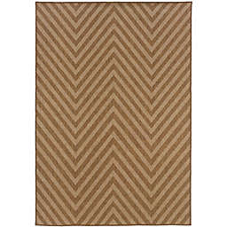 Cabana Bay Kaydee Anderson Indoor/Outdoor Rug in Tan