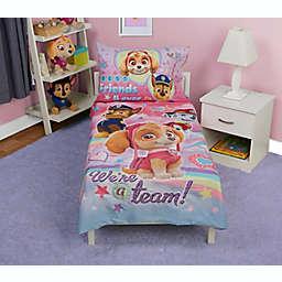 PAW Patrol We're a Team 4-Piece Toddler Bedding Set in Pink