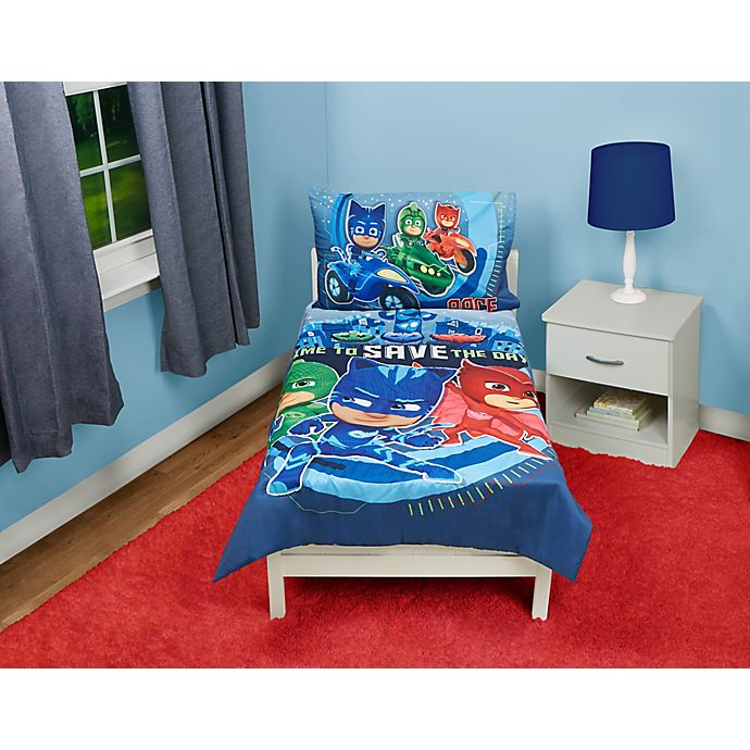 Alternate image 1 for PJ Masks Time to Save the Day 4-Piece Toddler Bedding Set