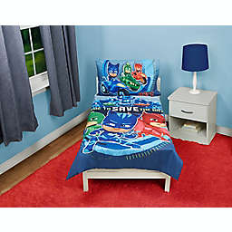 PJ Masks Time to Save the Day 4-Piece Toddler Bedding Set