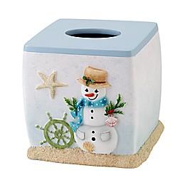 Avanti Coastal Snowman Resin Tissue Cover
