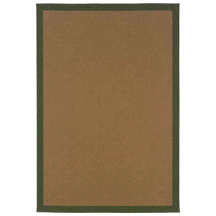Alternate image 1 for Cabana Bay Lakeview Burke 8'6 x 13' Indoor/Outdoor Area Rug in Green