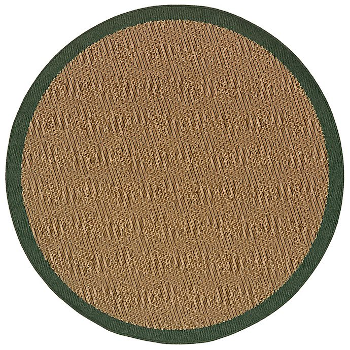 Alternate image 1 for Cabana Bay Lakeview Burke 7'10 Round Indoor/Outdoor Area Rug in Green