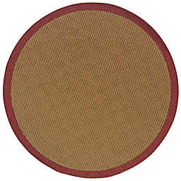 Cabana Bay Lakeview Burke 7'10 Round Indoor/Outdoor Area Rug in Red