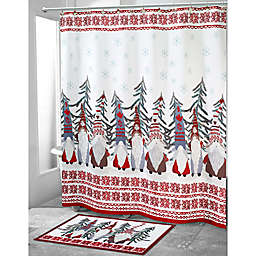 Avanti 72-Inch Square Christmas Gnome Shower Curtain
