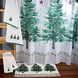 Avanti Trees 72-Inch Square Shower Curtain