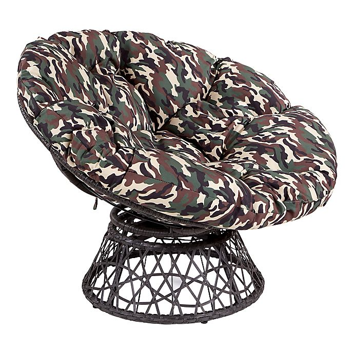 Alternate image 1 for Papasan Chair with Round Pillow-Top Cushion and Wicker Frame