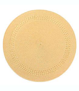 Mantel individual Destination Summer con borde color amarillo