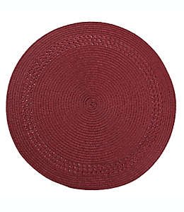Mantel individual Destination Summer con borde color rojo
