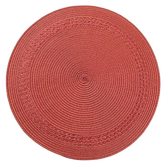 Alternate image 1 for Destination Summer Spiral Border Round Placemat in Terracotta