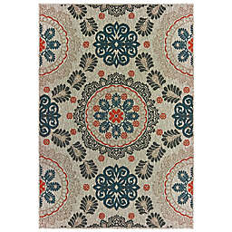 Cabana Bay Landor Eddie Indoor/Outdoor Rug in Grey