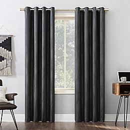 Sun Zero® Beck Geometric Ogee Grommet 100% Blackout Thermal Window Curtain Panel
