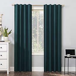 Sun Zero® Cyrus Thermal Total Blackout 63-Inch Back Tab Curtain Panel in Teal (Single)