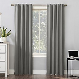 Sun Zero Cyrus Thermal Total Blackout Back Tab Window Curtain Panel