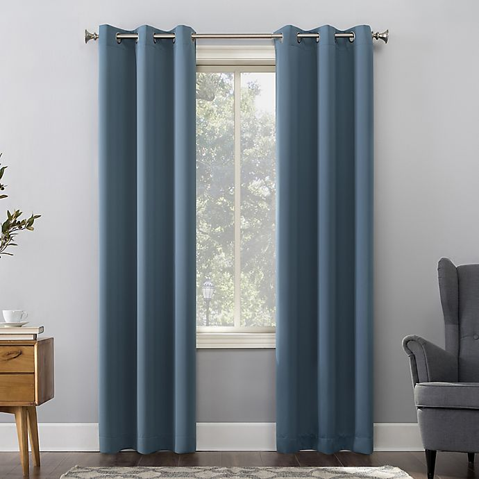 Alternate image 1 for Sun Zero® Mariah Room Darkening Grommet Window Curtain Panel