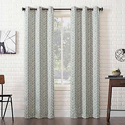 Sun Zero® Kenwood Chevron Grommet Room Darkening Curtain Panel in Stone (Single)