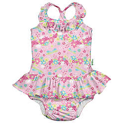 i play.® by green sprouts® Size 6M Dragonfly Floral Swimsuit with Swim Diaper