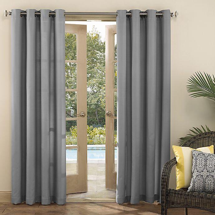 Alternate image 1 for Sun Zero® Sailor 84-Inch Grommet Room Darkening Indoor/Outdoor Window Curtain Panel