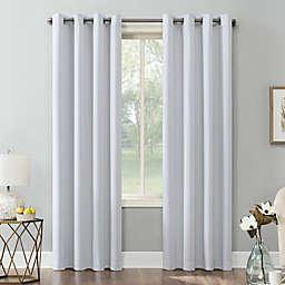 Sun Zero® Saxon 84-Inch Grommet Room Darkening Window Curtain Panel in Dove White