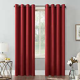 Sun Zero® Saxon 63-Inch Grommet Room Darkening Window Curtain Panel in Red