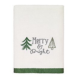 Avanti Christmas Trees Hand Towel in White