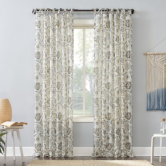 Alternate image 1 for No.918®  Marita Tie Top Window Curtain Panel (Single)