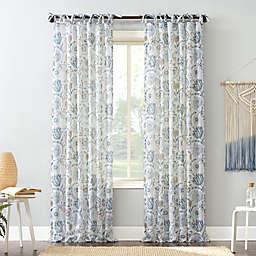 No.918® Marita 84-Inch Tie Top Window Curtain Panel in Silver/Grey (Single)
