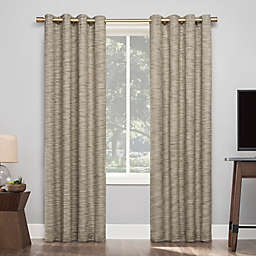 Sun Zero Kamali Textured Strie Thermal Extreme Total Blackout Grommet Window Curtain