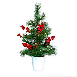 Easy Treezy 20-Inch Faux LED Christmas Tabletop Tree