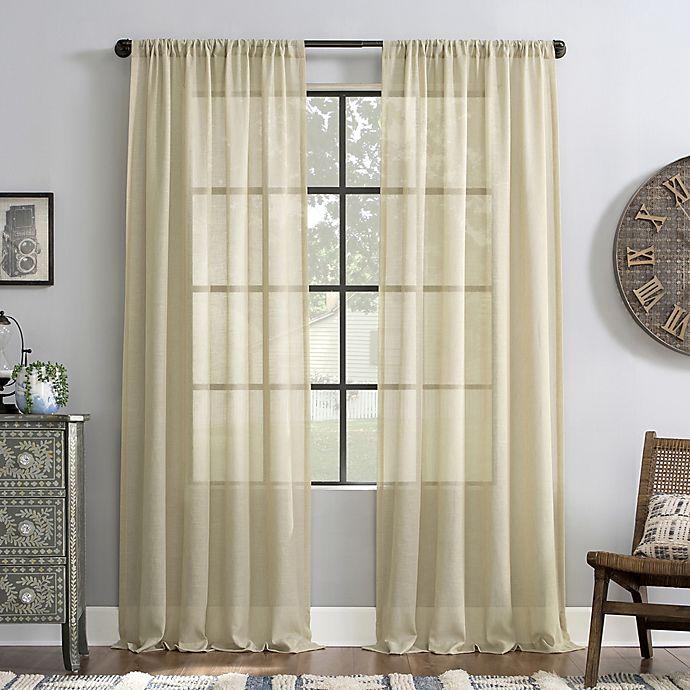 Alternate image 1 for Archaeo® Slub Textured Rod Pocket Light Filtering Window Curtain Panel