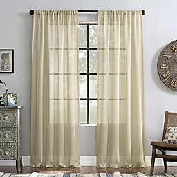 Archaeo® Slub Textured Rod Pocket Light Filtering Window Curtain Panel