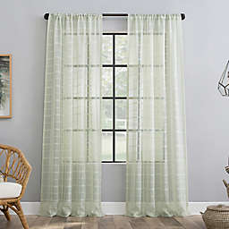 Clean Window® Windowpane Plaid Anti-Dust Rod Pocket Window Curtain Panel