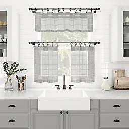 Clean Window® Windowpane Plaid Anti-Dust Window Curtain Collection