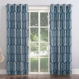 Sun Zero Borneo Tropical Foliage Indoor/Outdoor UV Protectant Grommet Window Curtain