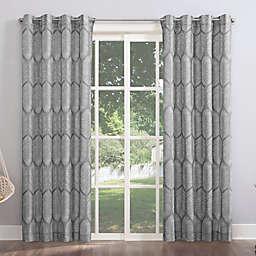 Sun Zero® Borneo 84-Inch Indoor/Outdoor UV Protectant Curtain Panel in Gray (Single)