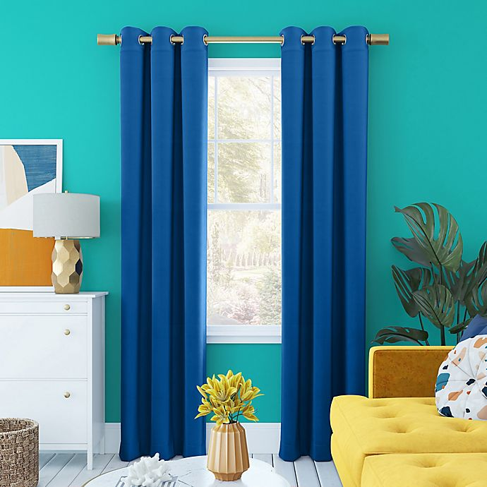 Alternate image 1 for Sun Zero Harper Bright Vibes Total Blackout Grommet Window Curtain Panel