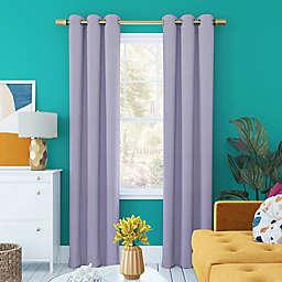 Sun Zero Harper Bright Vibes Total Blackout 84-Inch Grommet Window Curtain Panel in Lavender