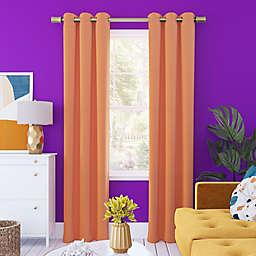 Sun Zero® Harper Bright Vibes Total Blackout 63-Inch Curtain Panel in Orange (Single)