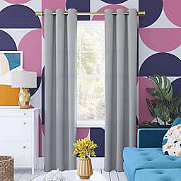 Sun Zero® Harper Bright Vibes Total Blackout 63-Inch Curtain Panel in Silver Gray (Single)