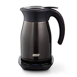 Dash® 1.7-Liter Insulated Electric Kettle with Temperature Control in Black