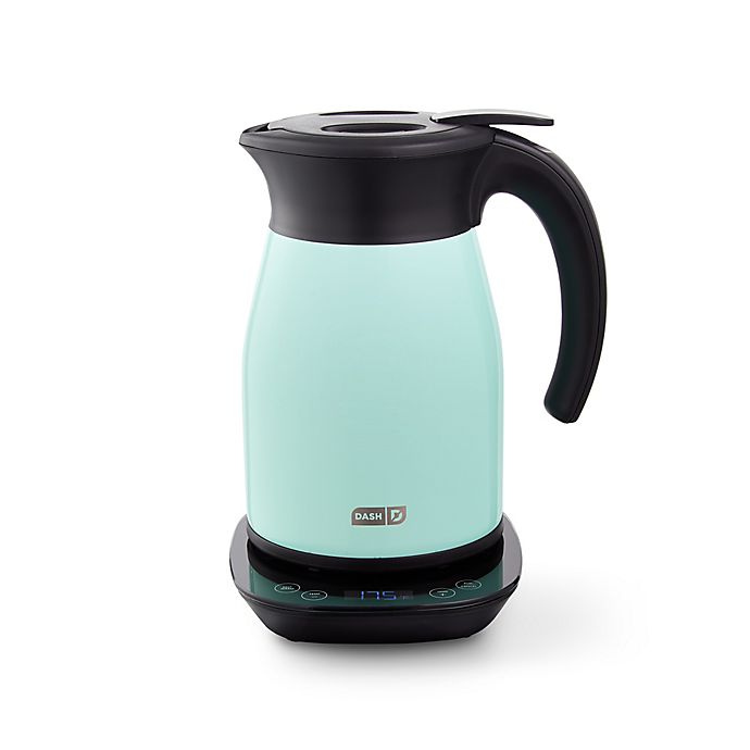Alternate image 1 for Dash® 1.7-Liter Insulated Electric Kettle with Temperature Control in Aqua